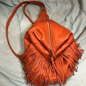 Brown fringe purse